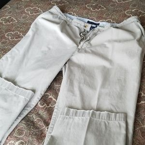 Tommy Hilfiger pleated front khakis